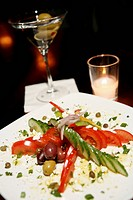 Tomato Cucumber Salad with Capers, Red Onion and Olives