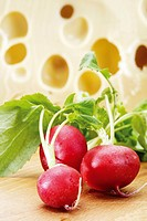 Radishes and cheese