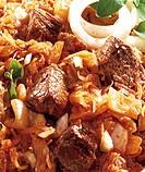 Szegedy Goulash, beef and sauerkraut stew