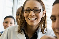 Multi_ethnic doctor and nurses smiling