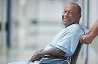African American man in wheelchair