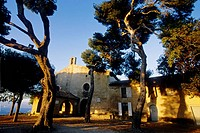 Sanctuary of La Garoupe in the top hill of Antibes cape Alpes-MAritimes, 06, French Riviera, Cote d´Azur, France, Europe
