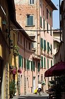 Street, Lucca. Tuscany, Italy