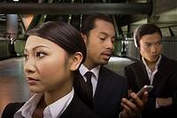 Businesspeople on the underground