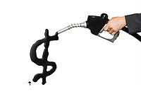 Dollar sign in gasoline