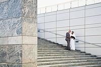 Businessmen on steps