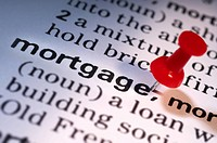 Thumb tack on word mortgage