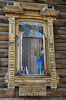 Wooden architecture from the 19th century, Tomsk, Tomsk Oblast, Russia
