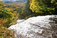 Yutaki Falls in Tochigi Prefecture, Japan