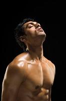 Close_up of a man exercising