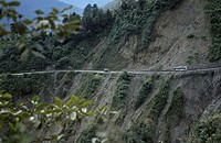 Road in the mountains, Yungas, Coroico, Bolivia