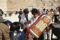 Jerusalem - Believers at the Wailing Wall