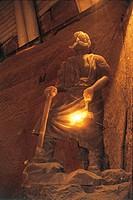 Poland - Malopolskie voivodship. Wieliczka Salt Mine (UNESCO World Heritage Site, 1978). Sculpture