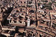 Italy - Emilia Romagna Region - Ferrara. Aerial view of Renaissance city (UNESCO World Heritage Site, 1995)