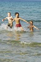 Children, running, water