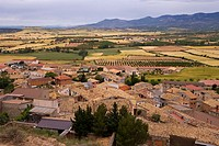 spain, Aragón, Bolea, place_overview, Europe, destination, mountain_village, village, houses, residences, architecture, roofs, house_roofs, brick_roof...