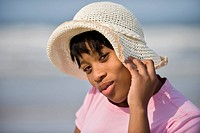 Young woman looking at camera, East London, Eastern Cape Province, South Africa