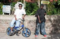 Saba, Windwardside, local youth