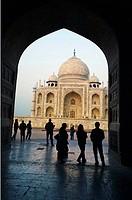 The Taj Mahal, mausoleum of the Empress Mumtaz Mahal, Agra, India