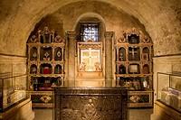 Spain. Asturias. Oviedo. San Salvador Cathedral. Cámara Santa, Victory Cross, World Heritage Site.