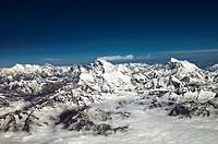 Mount Everest range- the Himalayas