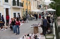 europe, greece, athens, anafiotika on sunday