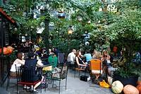 Cafe at the Kunsthauswien by architect Hundertwasser, Vienna, Austria
