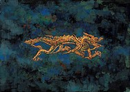 mythical, painting, myth, tradition, dragon, mythology, animal