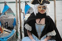Venice (Italy), masked girl at the Carnival
