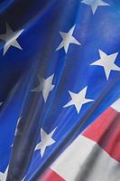 Blue, Fold, Fabric, Close_Up, American Flag
