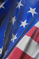 Blue, Flag, Fabric, Close_Up, American Flag