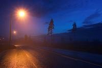 Blue Sky, Highways, Lights, Narrow