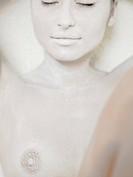Naked woman close up