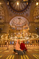Inside Blue Mosque, Sultanahmet, Istanbul, Turkey