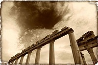 Pillars of Ruins, Pergamum, Turkey