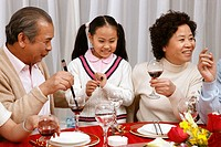 Chinese family getting together,China
