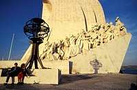 Monument to the Discoveries (1960) built for the commemoration of the 500th anniversary of the death of Henry the Navigator, Belem parish, Lisbon, Por...