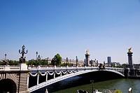 Bridge above Seine River, Paris