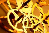 Clock gears, close_up