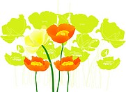 Background of floral pattern