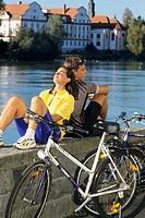 Outdoor _ Biker am See