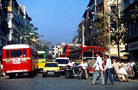 Mumbai Formerly Bombay  India Traffic And Business People And Traffic Jam