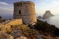 Wachturm Torre des Savinar am Aussichtspunkt Mirador des Savinar / watchtower Torre des Savinar at the viewpoint Mirador des Savinar