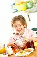 Little girl breakfast