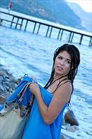 Teenage girl beach