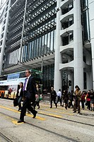 January 2006, A stock photo of buildings and people in Hong Kong, a typical lifestyle in a big crowded city in Asia.Hing Kong Asia.  Agent 109 AAP Ima...