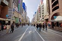 People walking on road in marketplace