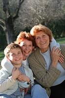 Three generations, portrait.