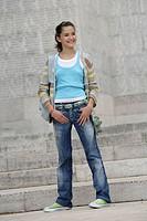 Teenage girl look
