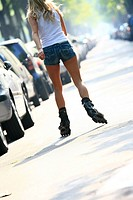 Woman rollerblade